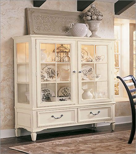 Image Detail For -Portofino Ivory Display Cabinet By