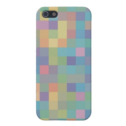Pastel Rainbow Pixel Pattern Cover For iPhone 5