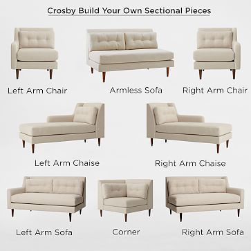 Build Your Own Crosby Sectional Pieces Westelm