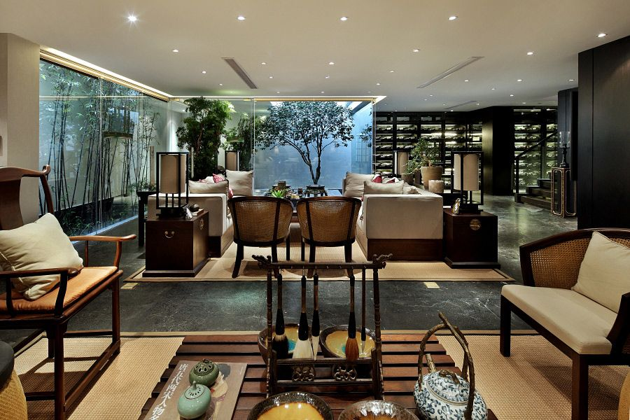 Modern Chinees Interieur : Modern chinese style interiors combined with traditional style