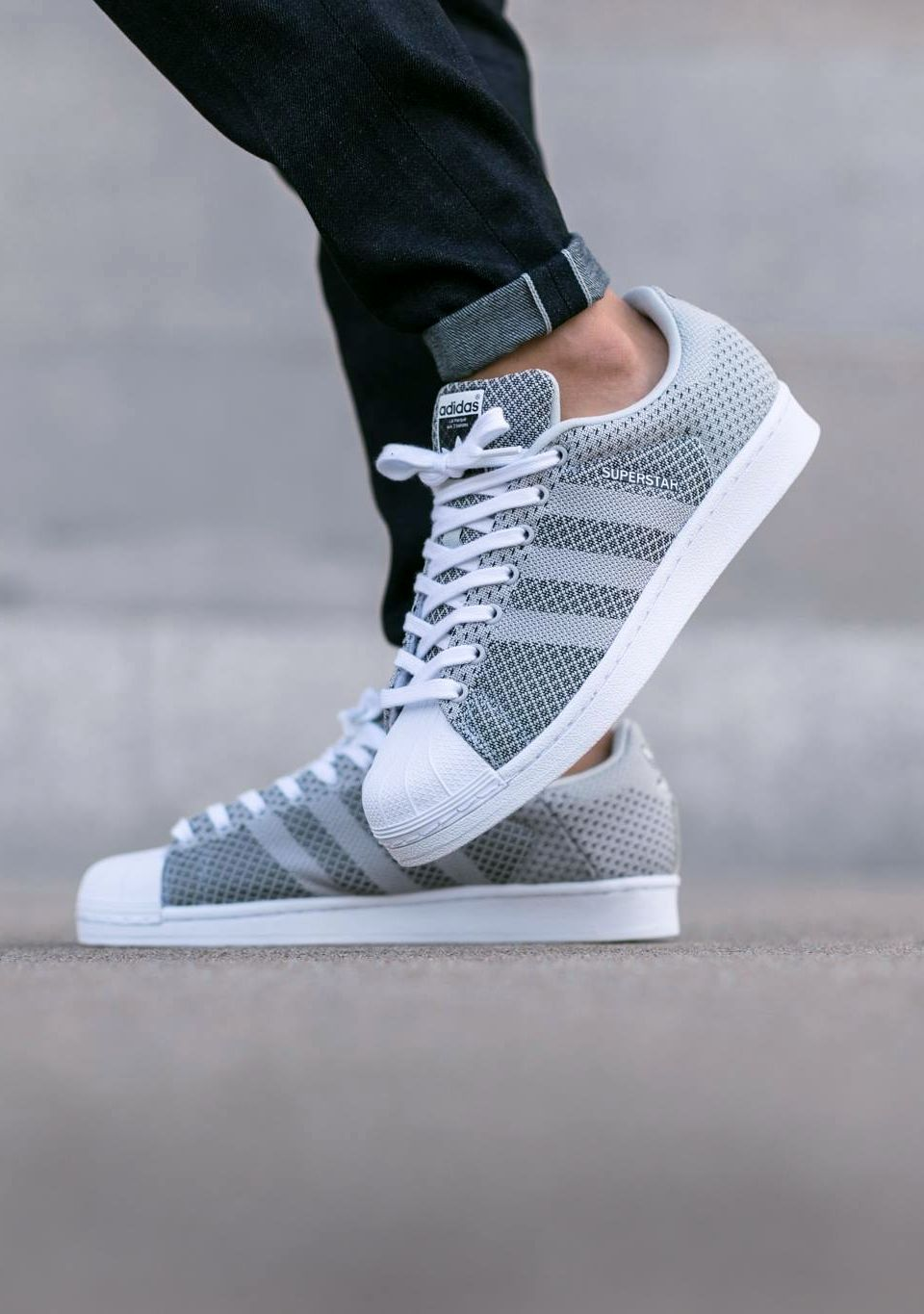 new concept e0547 36073 ADIDAS SUPERSTAR WEAVE  CLEAR GREY