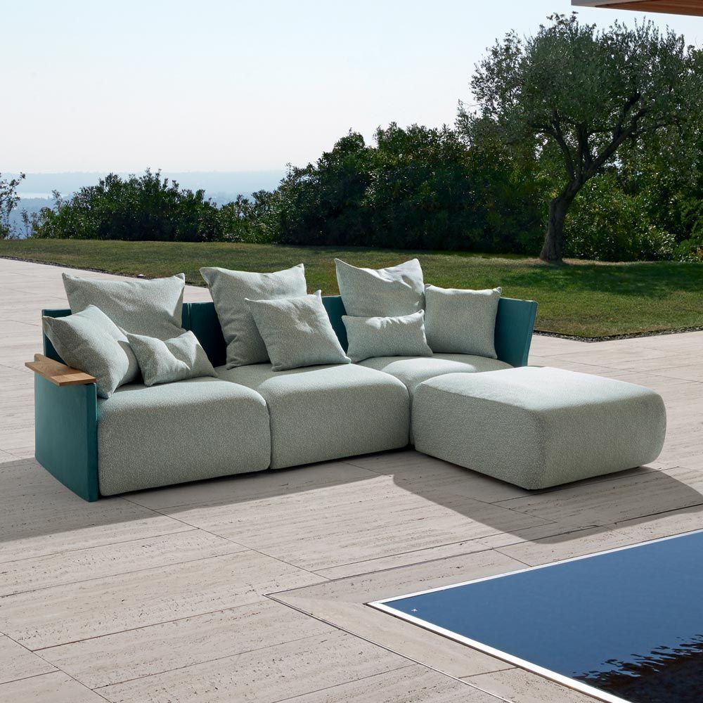 Divani Da Esterno Impermeabili begin è un divano 3 posti con chaise longue da esterno dal