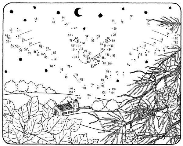 Numeros Para Colorear En Linea Fichas Para Unir Puntos Y: Dibujo De Unir Puntos De Búho Volando: Dibujo Para