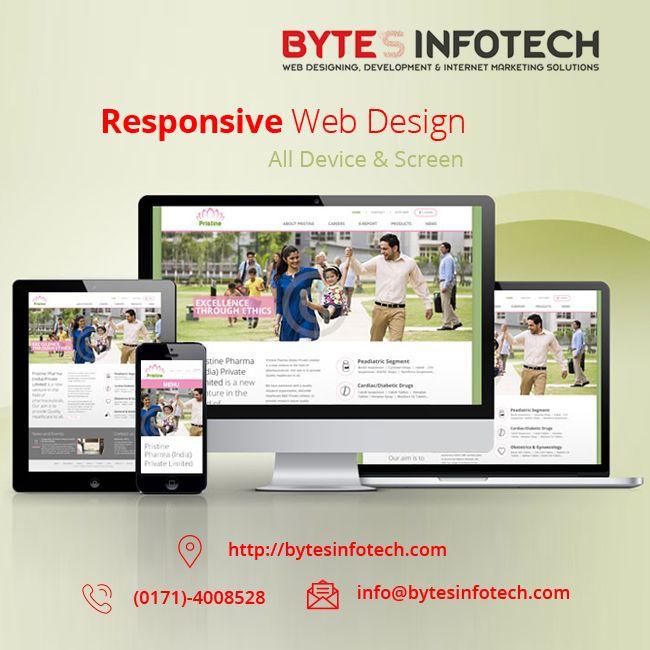 Best Website Designing Company Based In Chandigarh Www Bytesinfotech Com Leading Website D Web Design Company Web Development Company Graphic Design Company