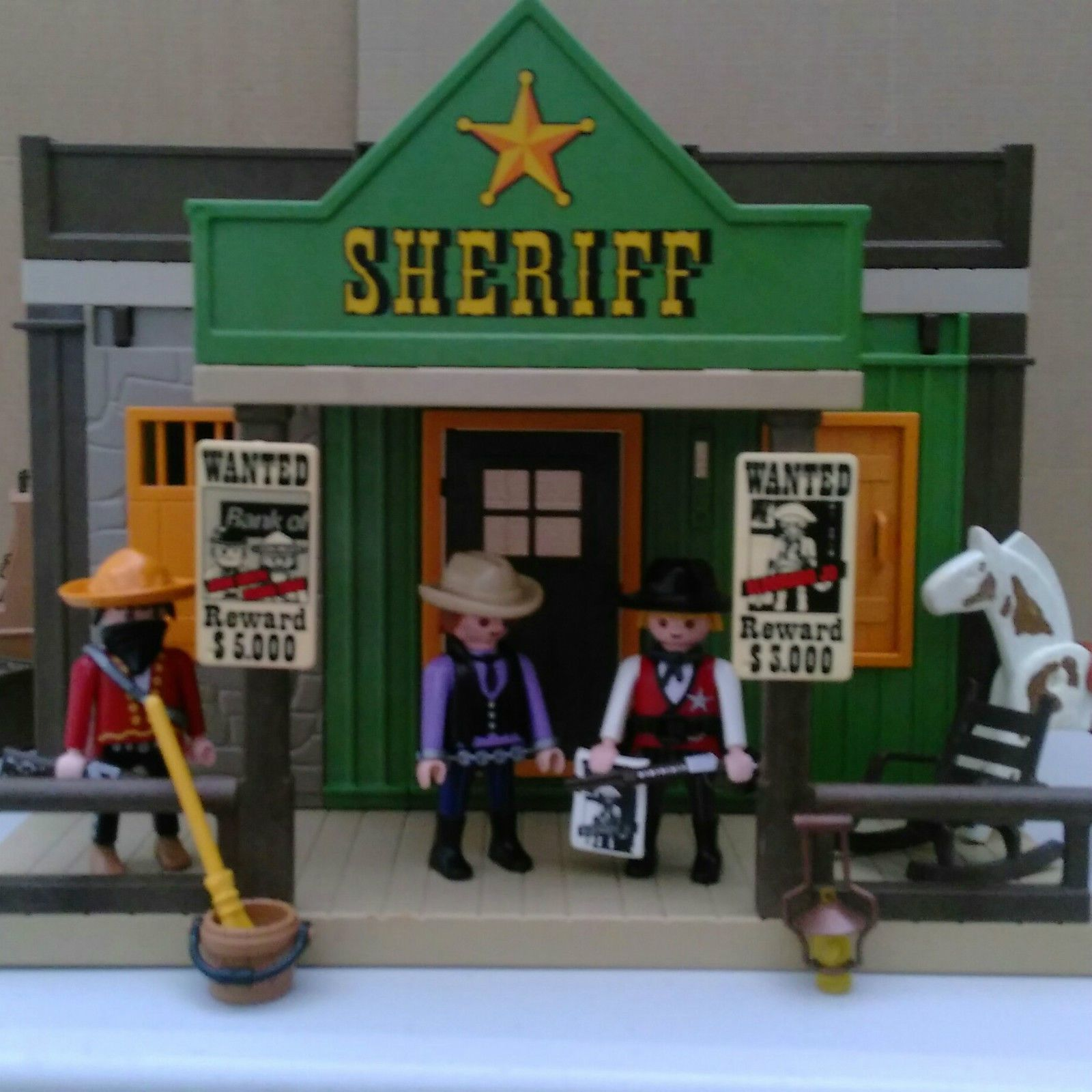 playmobil western sheriff 39 s office set 3786 wild west. Black Bedroom Furniture Sets. Home Design Ideas