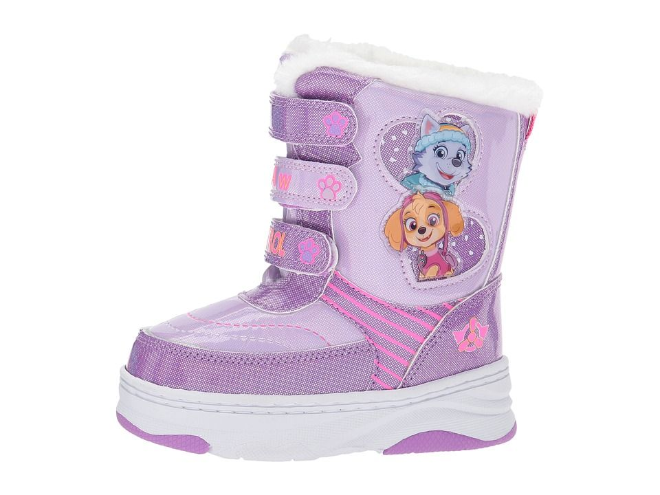 Josmo Paw Patrol Girls Snow Boots with Easy Straps Closure Toddler, Little Kid