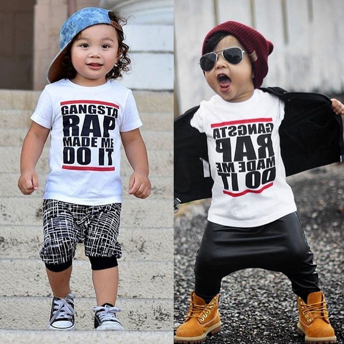 Toddler Kids Baby Boy Summer Short Sleeve Cotton T Shirt Tee Tops