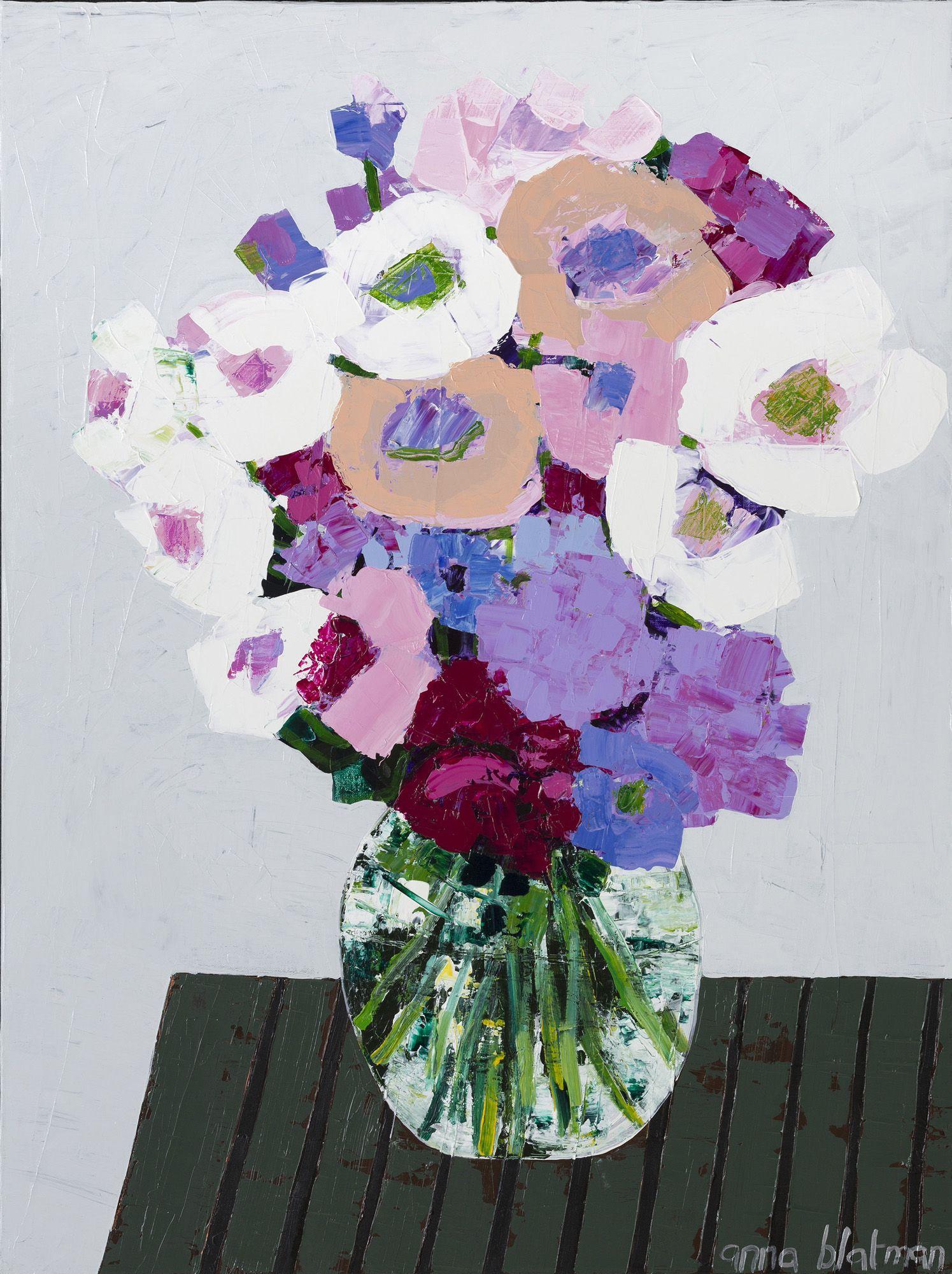 Artworks anna blatman abstract flower art abstract