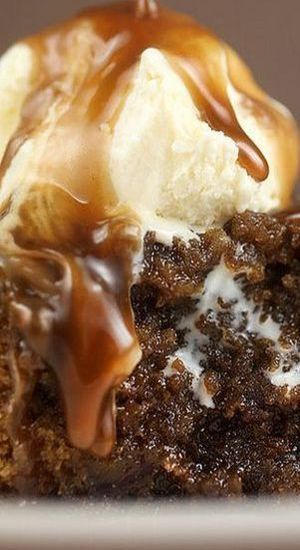 Sticky Toffee Pudding with Toffee Sauce Recipe