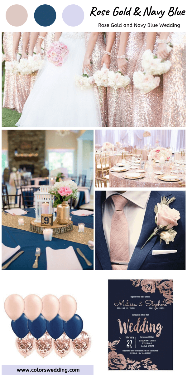 Best 8 Rose Gold And Navy Blue Wedding Color Ideas Rose Gold Bridesmaid Wedding Rose Gold Theme Navy Wedding Colors