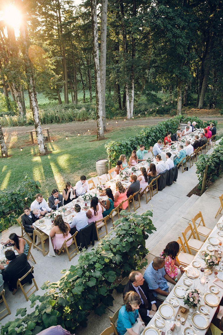 Blush Pink Oregon Wine Country Wedding Wedding venues