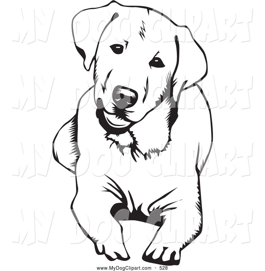 clip art of a cute and curious labrador retriever dog lying down and rh pinterest com