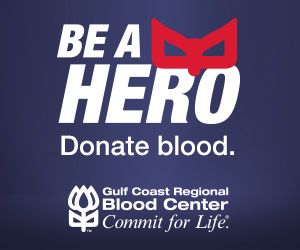 c109b92bc Be a hero. Donate blood with Gulf Coast Regional Blood Center. | Get ...