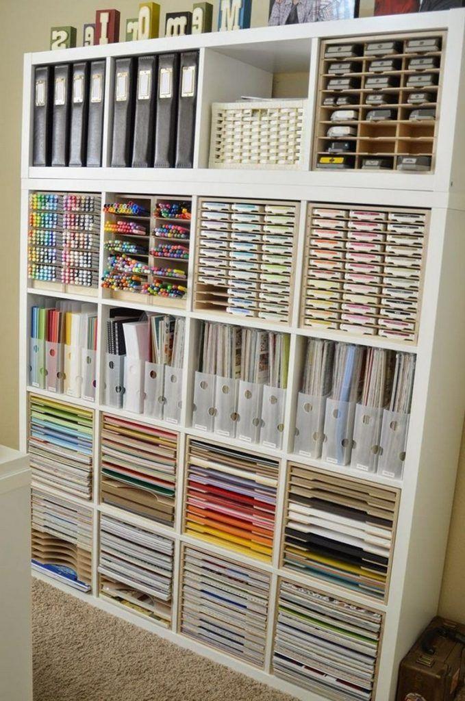 35 Flawless Craft Room Storage Organization Ideas On A