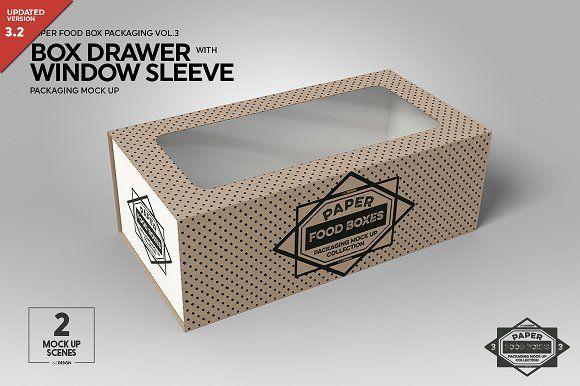 Download Box Window Sleeve Packaging Mockup Sleeve Packaging Packaging Mockup Free Packaging Mockup