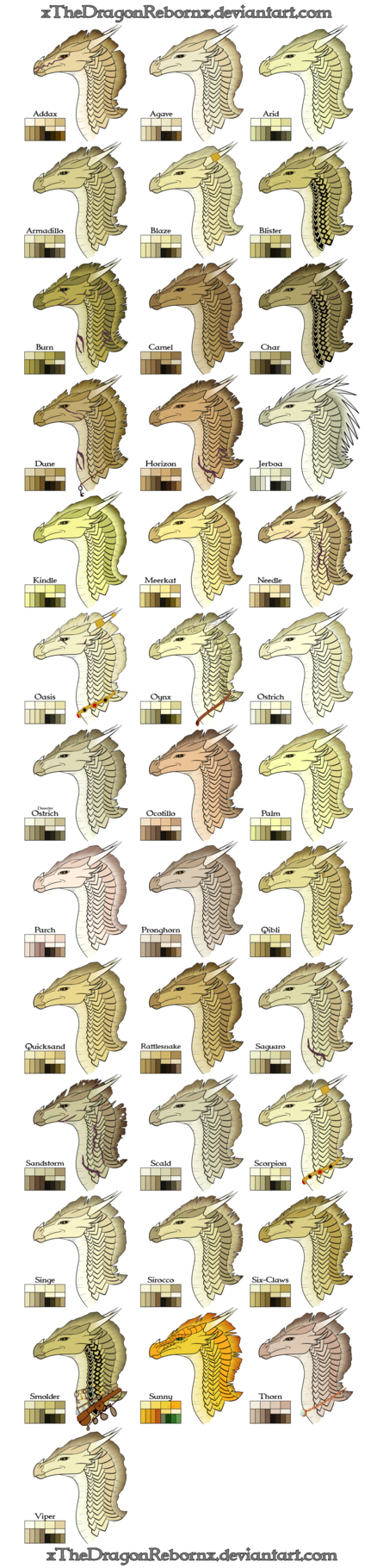 EDIT #1 - Added Fin You may use these color palettes if you like. This is just a color chart for me to use when I color a character. WARNING THIS IS A HUGE PICTURE. Now, this is my take on wh...