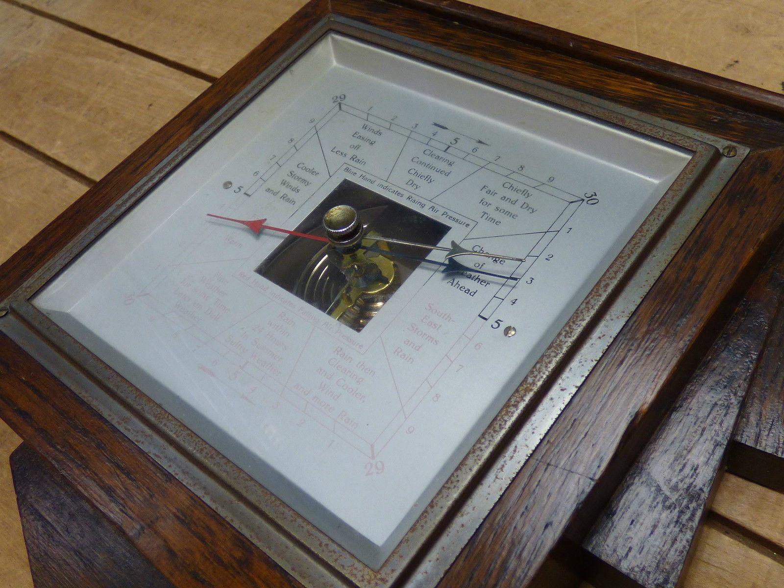 Vintage Wooden Cased Barometer - Some Wear | eBay