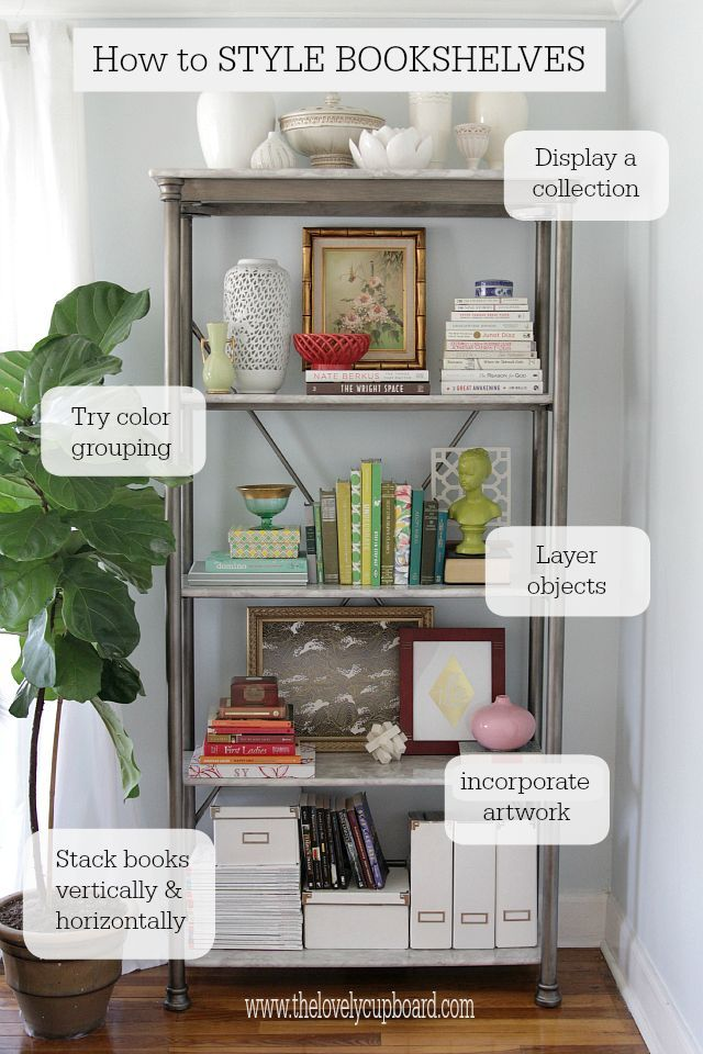 How To Style A Bookshelf   Displaying Collections, Grouping By Color,  Layering, Artwork