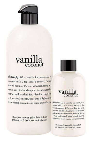 Philosophy Vanilla Coconut Shampoo Shower Gel Bubble Bath Duo Usd 45 Value Nordstrom Coconut Shampoo Purity Made Simple Shampoo