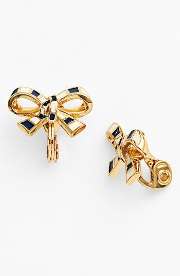 Kate Spade New York Finishing Touch Bow Clip Earrings Nordstrom