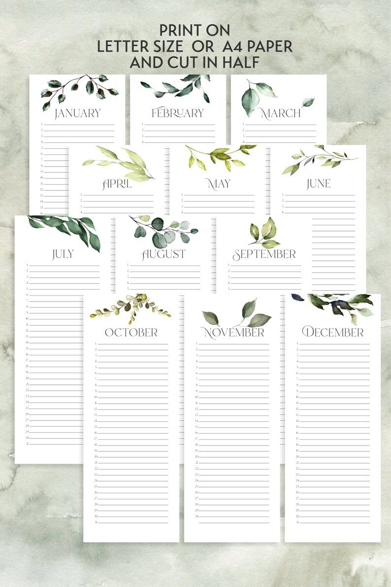 Mit Calendar 2022.Editable Printable 2021 2022 Calendar Bundle With Perpetual Calendar Year At A Glance Includes Sizes A5 A4 Letter Size Planners In 2021 Ewiger Kalender Monatskalender Kalender