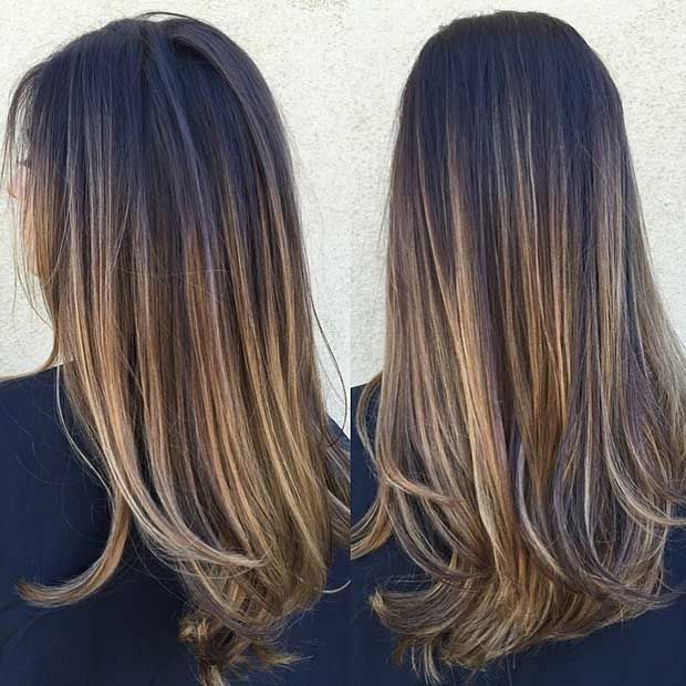 47 Stunning Blonde Highlights For Dark Hair Brown Hair With
