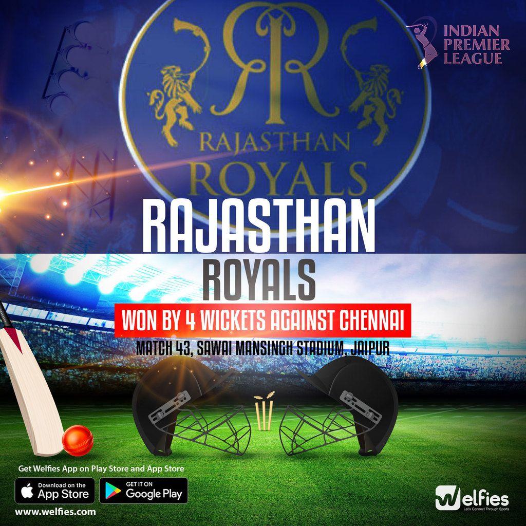 Rajasthan Royals (RR) kept their Indian Premier League