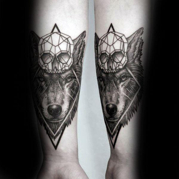 90 Geometric Wolf Tattoo Designs For Men Manly Ink Ideas Geometric Wolf Tattoo Geometric Tattoo Tattoo Designs Men