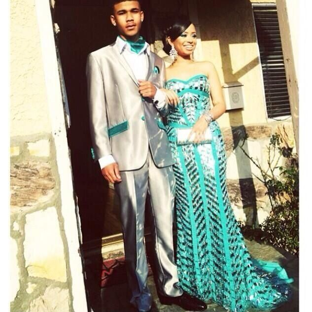Teal prom couple !!!! | F A S H I O N | Pinterest | Prom couples ...