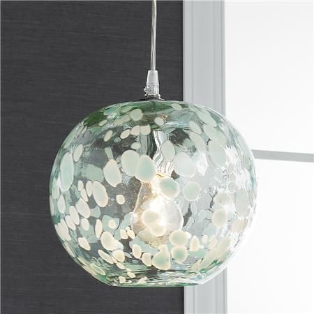 Shades Of Light Speckled Hand Blown Glass Pendant Hallies Room
