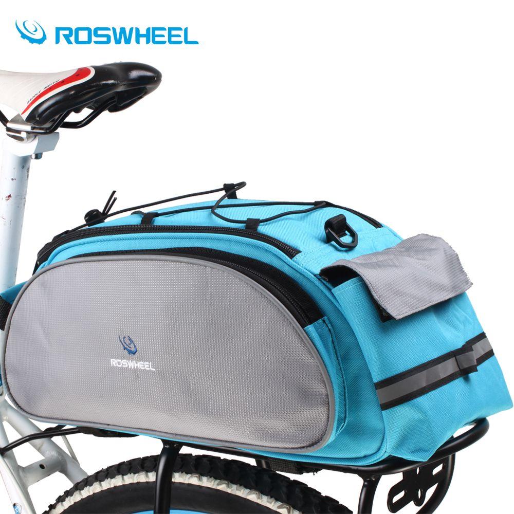 Roswheel Bicycle Bag Multifunction 13l Bike Tail Rear Bag Saddle Cycling Bicicleta Basket Rack Trunk Bag Shoulder Handbag Bike Bag Bike Saddle Bags Bicycle Bag