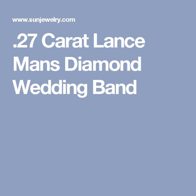 .27 Carat Lance Mans Diamond Wedding Band