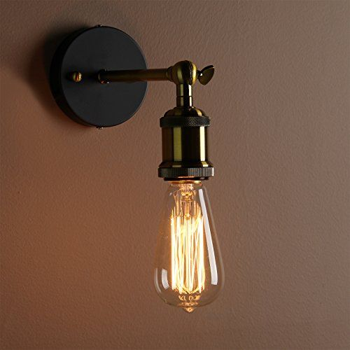 Modern Rustic Wall Lights : Buyee Modern Industrial Brass Wall Sconce Edison Lamp Retro Wall Light Rustic Vintage Wall ...
