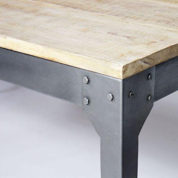 Table Salle A Manger Bois Metal Avec Rallonge: Table Bois Et Métal Avec Allonges