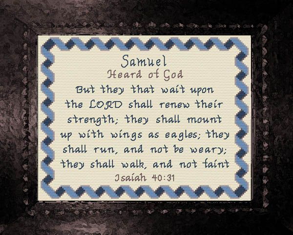 Samuel - Name Blessings Personalized Cross Stitch Design ...