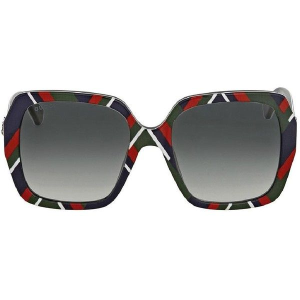 fbe1e9b273 Gucci Multicolor Gg0096s 005 Blue Red Square Sunglasses Tradesy ( 10) ❤  liked on Polyvore featuring accessories