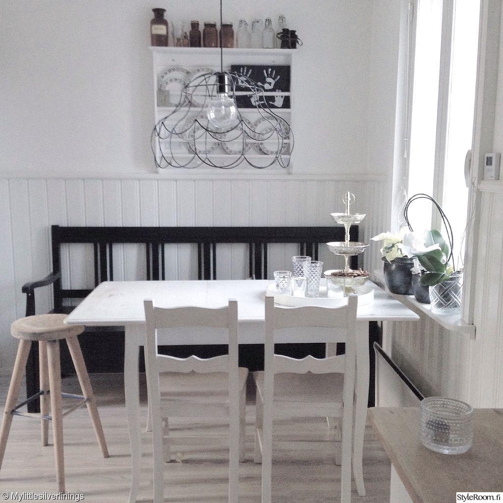keittiö,keittiön sisustus,maalaisromanttinen,maalaisromanttinen sisustus,must