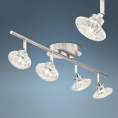 Pro Track Anissa 4 Light Crystal Track Fixture 8v808 Lamps Plus Track Lighting Track Lighting Fixtures Lamps Plus