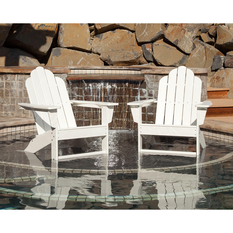 Long Island Adirondack 2 Piece Set (White), Size 2 Piece Sets