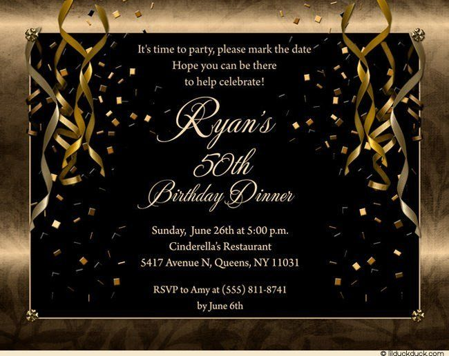 Nice 50th Birthday Party Invitations For Men Ms
