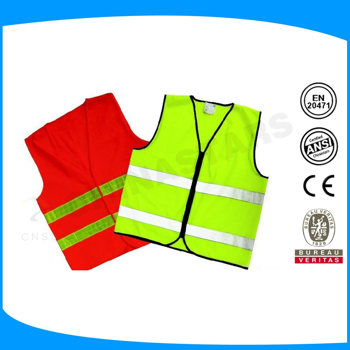 Colorful Safety Reflective Vest Made With Reflective Tapes En471 Reflective Fabric Material Safety Vest Reflective Vest Fabric Material