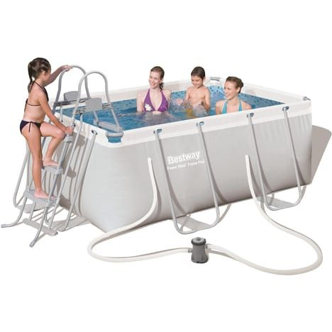 bestway kit piscine tubulaire rectangulaire