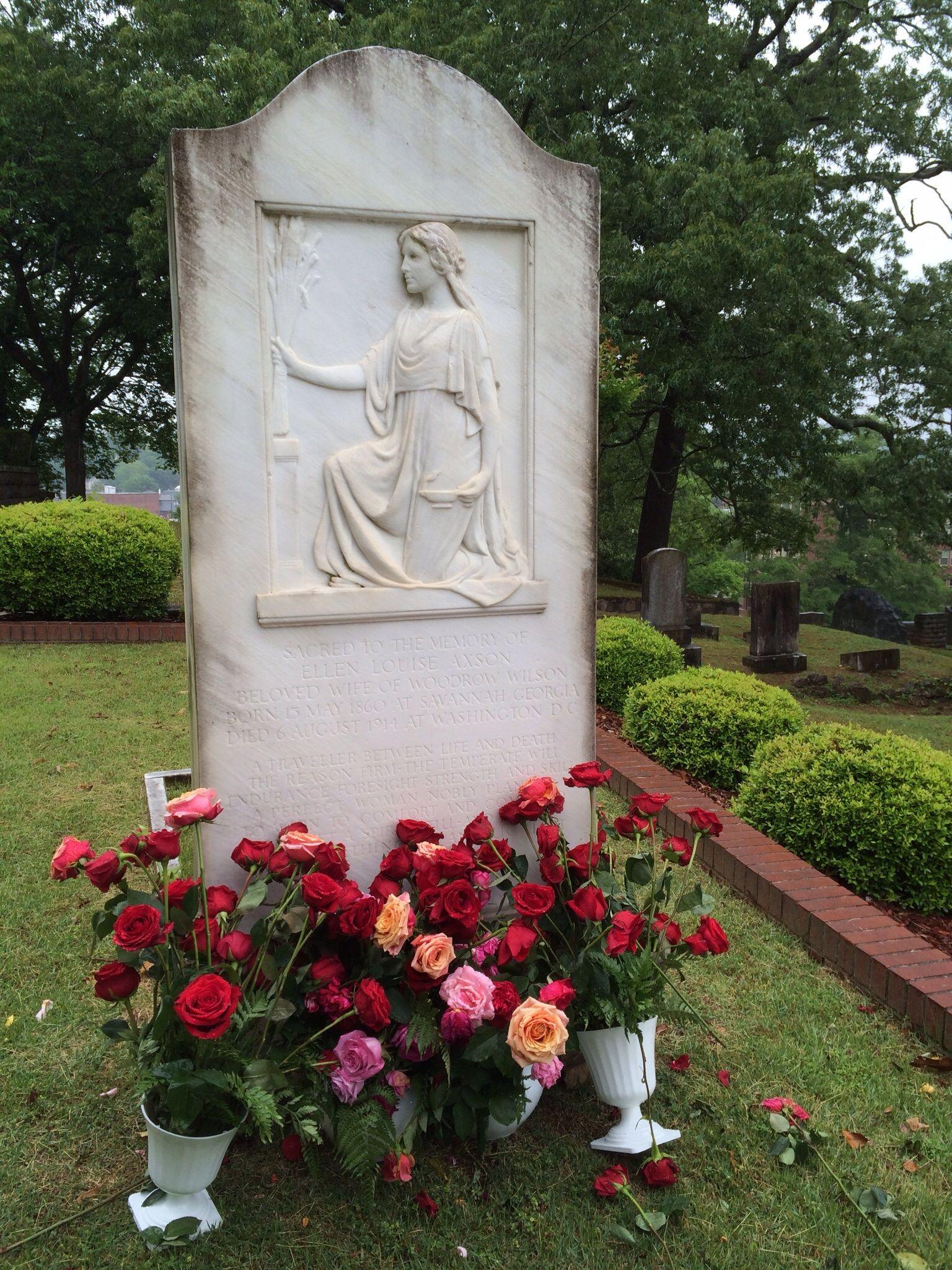 ellen axson wilson wife of president woodrow wilson is buried at ellen axson wilson wife of president woodrow wilson is buried at myrtle hill cemetery