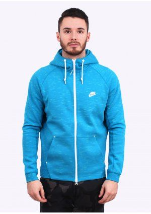Men's fashion · Nike Apparel Tech Fleece AW77 Hoodie - Light Blue