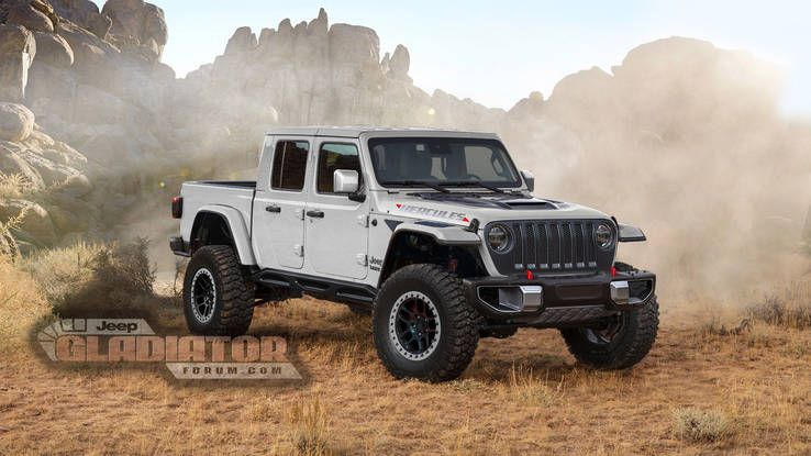 Jeep Gladiator Hercules In White Jeep Gladiator Jeep Lifted Jeep