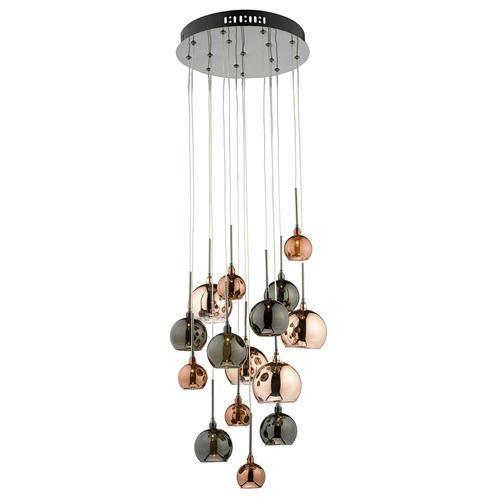 Aurelia 15 Light Ceiling Pendant Fitting Aur1564 Stair Lighting Copper Pendant Lights Cluster Lights
