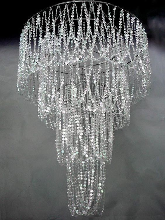 Large 4 tiered chandelier with diamond cut beads wedding decor large 4 tiered chandelier with diamond cut beads wedding decor direct aloadofball Choice Image