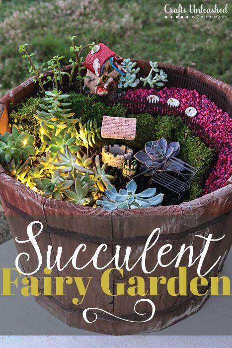 Succulent Garden Fairy Garden Idea Crafts Unleashed Fairy
