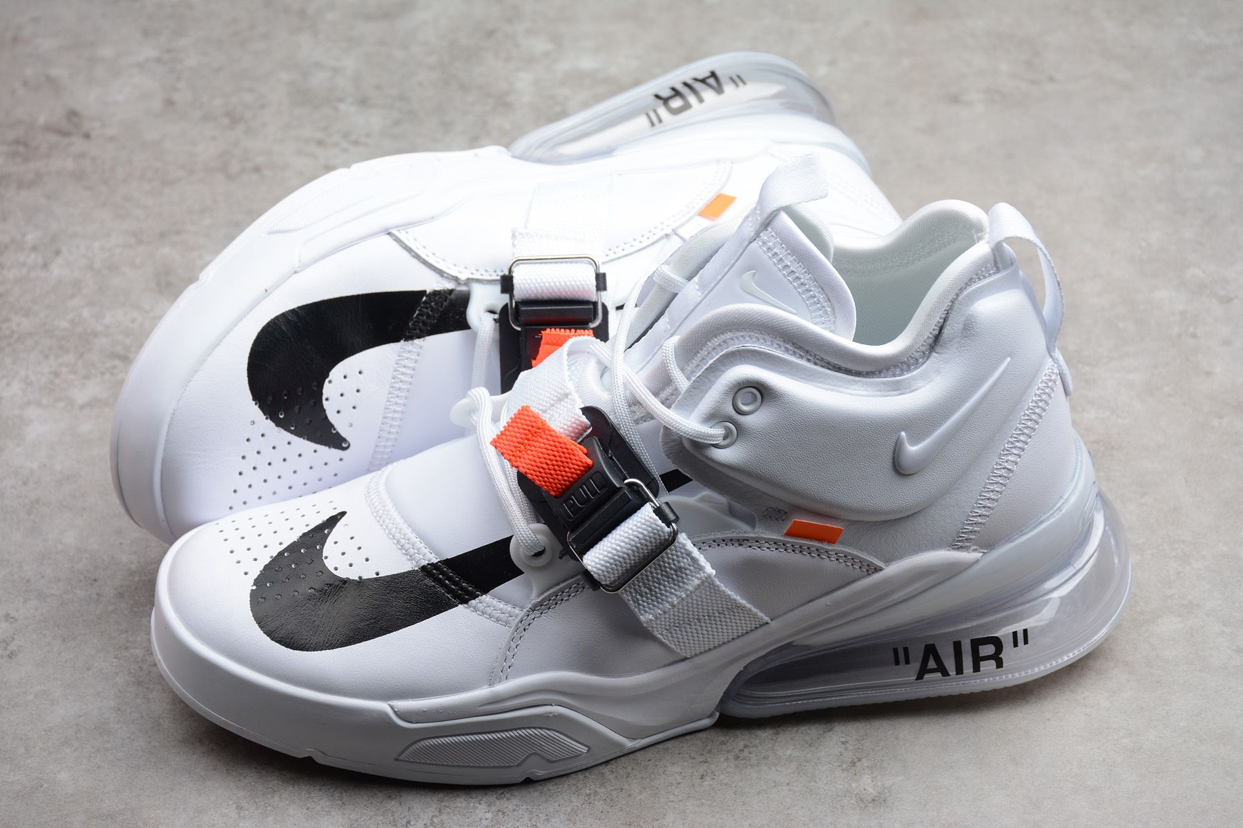 Mens Off White x Nike Air Force 270 WhiteBlack For Sale