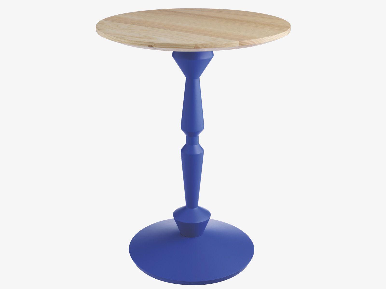 Pedro Blues Wood Tall Blue Spindle Side Table Side Tables Habitatuk